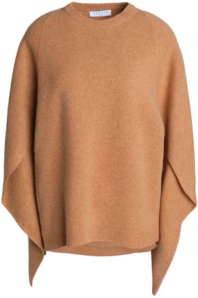 SANDRO Draped wool sweater