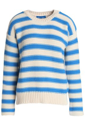 M.I.H JEANS Striped cotton-blend sweater