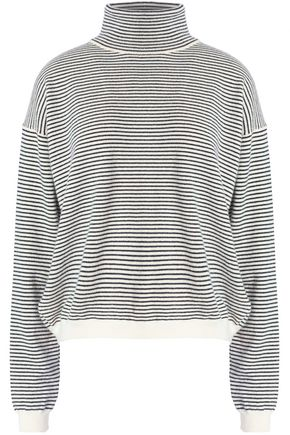 M.I.H JEANS Striped cashmere turtleneck sweater