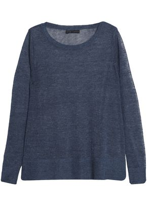 ALICE + OLIVIA Mélange linen-blend sweater