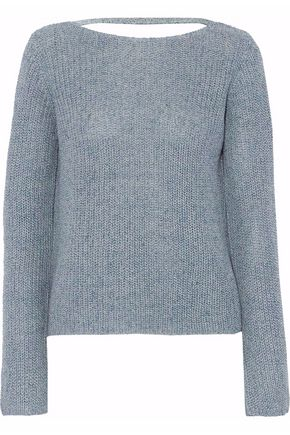 THEORY Linen and cotton-blend sweater