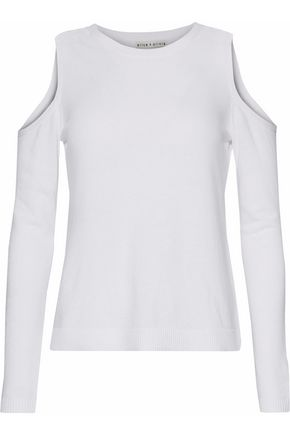 ALICE+OLIVIA Cold-shoulder knitted sweater