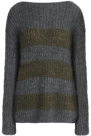 M.I.H JEANS Striped mohair-blend sweater