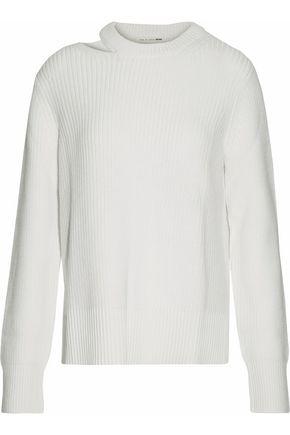 RAG & BONE/JEAN Cutout ribbed merino wool sweater