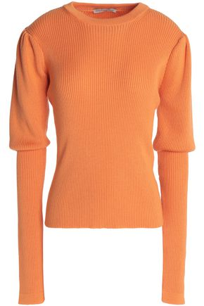 EMILIA WICKSTEAD Ribbed merino wool, silk and cashmere-blend sweater
