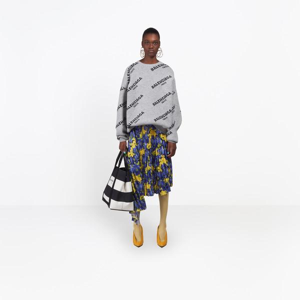 BALENCIAGA Knitwear Woman Jacquard Logo Crewneck g