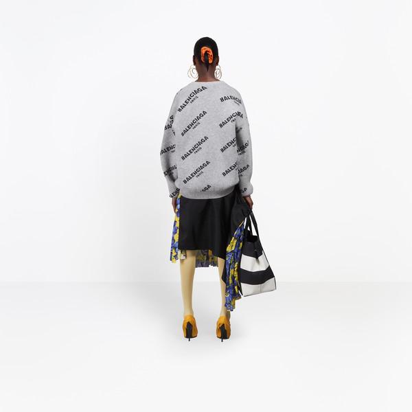 BALENCIAGA Knitwear Woman Jacquard Logo Crewneck h