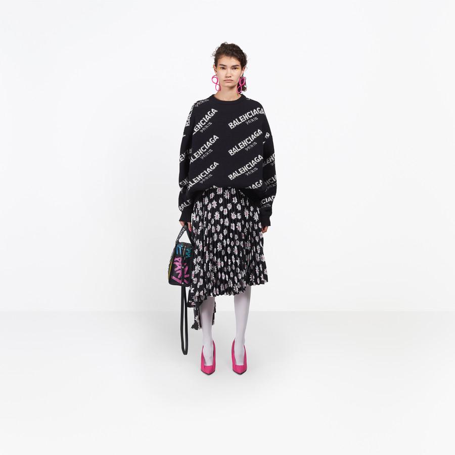 BALENCIAGA Jacquard Logo Crewneck Knitwear Woman g