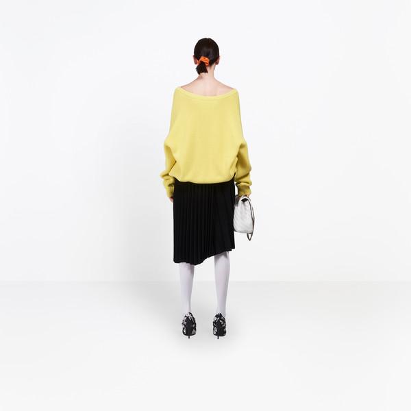 BALENCIAGA Knitwear Woman Long Sleeves V Neck Sweater h