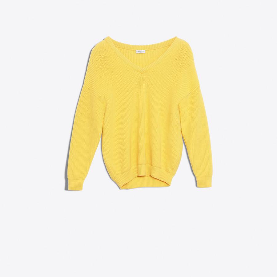 BALENCIAGA Long Sleeves V Neck Sweater Knitwear Woman f