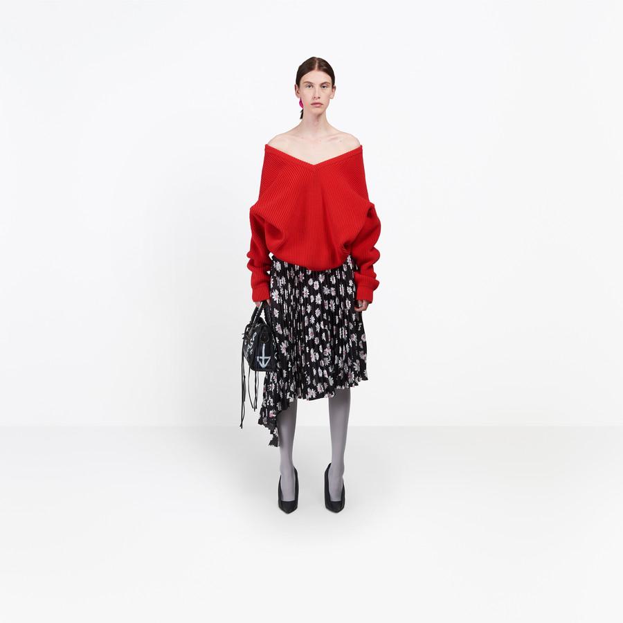 BALENCIAGA Long Sleeves V Neck Sweater Knitwear Woman g