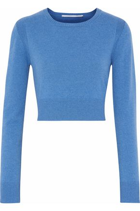 ROSETTA GETTY Cropped wool and cashmere-blend sweater