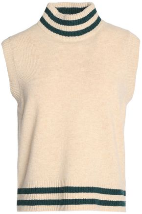 GANNI Merino wool-blend turtleneck sweater