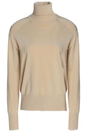 GANNI Knitted turtleneck sweater