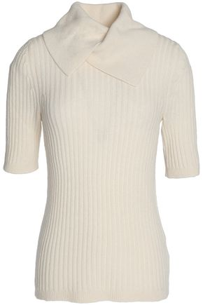 GANNI Ribbed merino wool-blend sweater