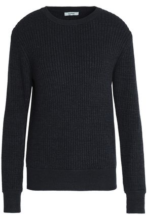 GANNI Ribbed-knit sweater