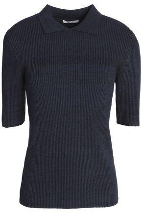 GANNI Mélange ribbed-knit top