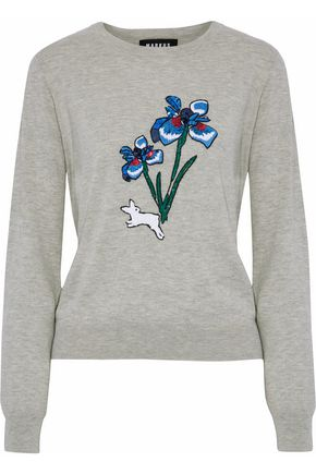 MARKUS LUPFER Embellished cotton sweater