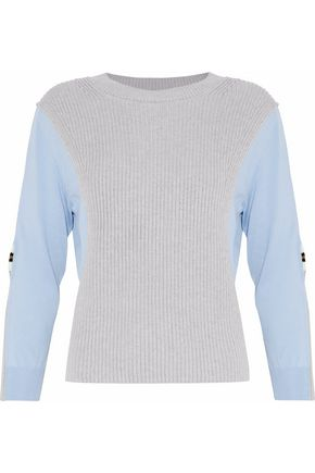 MAISON MARGIELA Ribbed knit-paneled cotton sweater