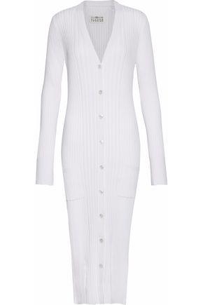 MAISON MARGIELA Ribbed cotton and cashmere-blend cardigan