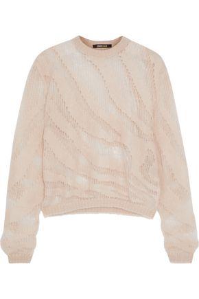 ROBERTO CAVALLI Open-knit mohair-blend sweater