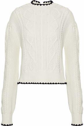 5fa986f71f1 McQ Alexander McQueen Cable-knit cotton sweater ...