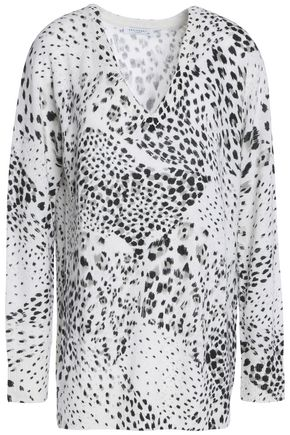 EQUIPMENT Leopard-print cashmere sweater