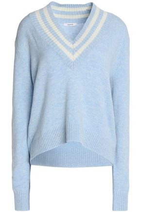 GANNI Intarsia merino wool-blend sweater