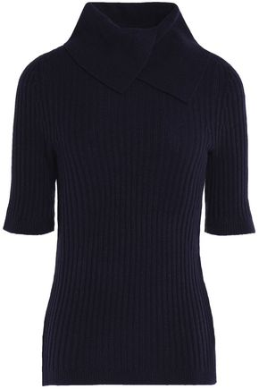 GANNI Ribbed merino wool-blend turtleneck sweater