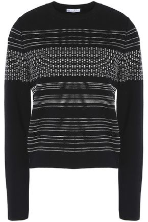 OSCAR DE LA RENTA Wool and cotton-blend sweater