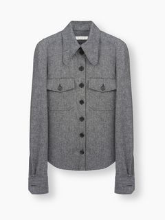 Herringbone overshirt