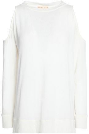 ALICE + OLIVIA Cold-shoulder knitted sweater