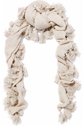 AUTUMN CASHMERE Tassel-trimmed cashmere scarf