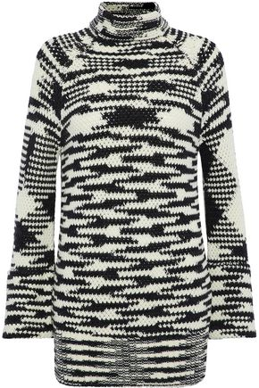 MISSONI Intarsia wool-blend turtleneck sweater