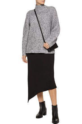 ALEXANDERWANG.T Marled cotton-blend turtleneck sweater
