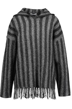 T by ALEXANDER WANG Flocked boiled merino wool-blend hooded sweater