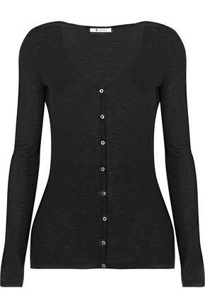 T by ALEXANDER WANG Ribbed wool cardigan