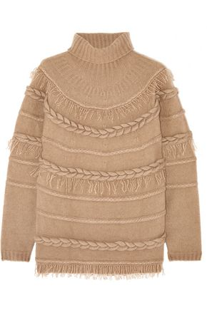 AGNONA Cable-knit cashmere and silk-blend sweater