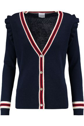 MADELEINE THOMPSON Corfu ruffle-trimmed wool and cashmere-blend cardigan
