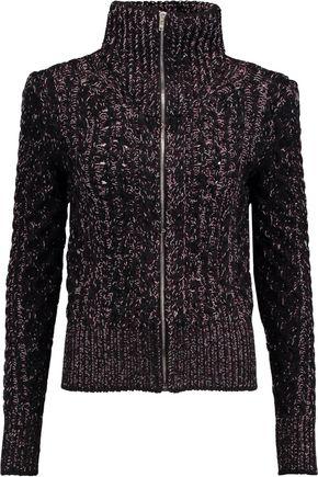 ISABEL MARANT Easley mélange cable-knit wool-blend cardigan