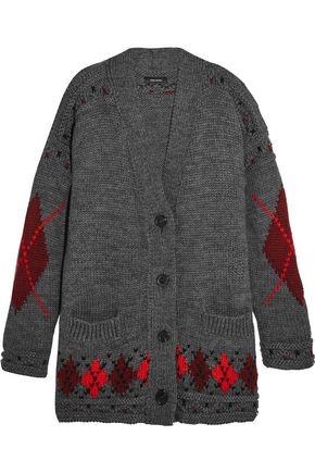 ISABEL MARANT Intarsia wool and alpaca-blend cardigan