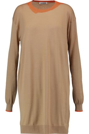 JIL SANDER Oversized intarsia-knit cashmere-blend sweater