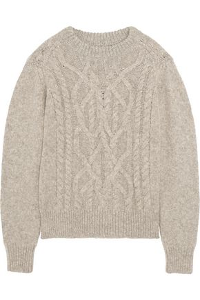 ISABEL MARANT Alpaca and merino wool-blend sweater