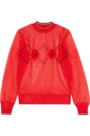 ISABEL MARANT Hilary metallic intarsia-knit sweater