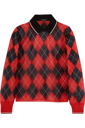 ISABEL MARANT Checked gauze sweater