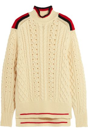 ISABEL MARANT Edison oversized cable-knit wool-blend sweater
