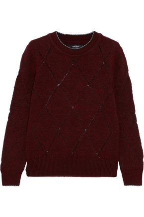 ISABEL MARANT Iggy metallic textured-knit sweater