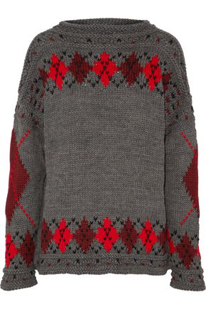 ISABEL MARANT Gibson argyle wool and alpaca-blend sweater