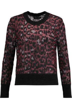 ISABEL MARANT Leopard-print mohair sweater