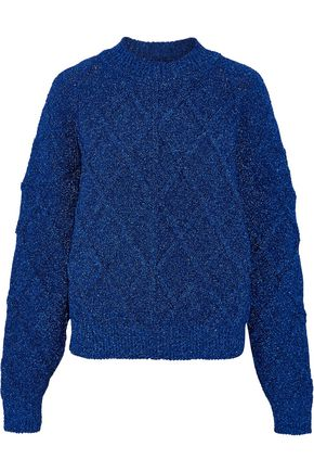 ISABEL MARANT Metallic cable-knit sweater